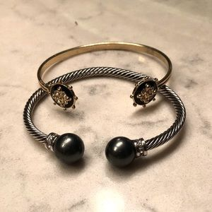 Jewelry - Set of two :: cable cuff bracelet